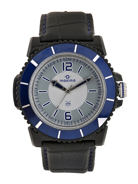 Maxima Men Grey Dial Watch 31180LPGW