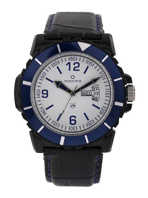 Maxima Men White Dial Watch 29772LPGW