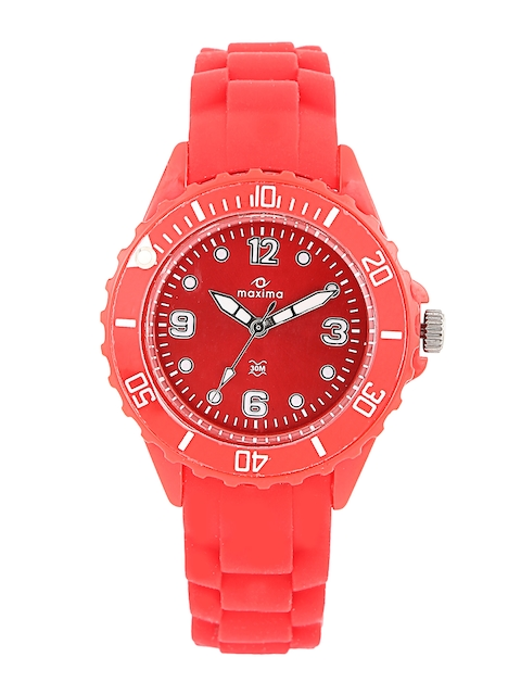 Maxima Women Dial Red Watch 31002PPLN