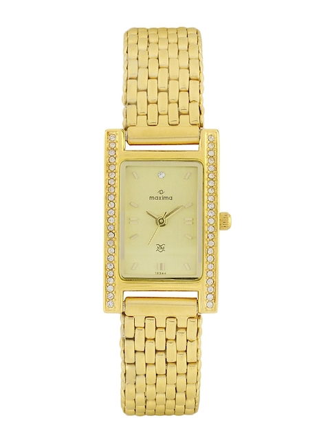 Maxima Women Gold Plated Watch