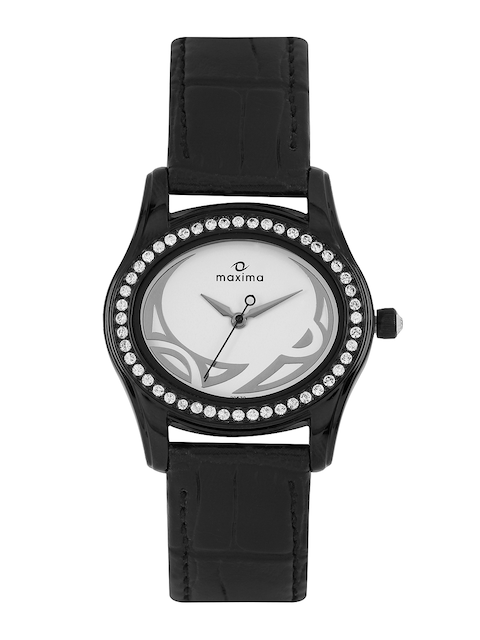 Maxima Women Off-White Dial Watch 29570LMLB