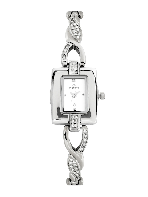 Maxima Women SIlver Toned Dial Watch