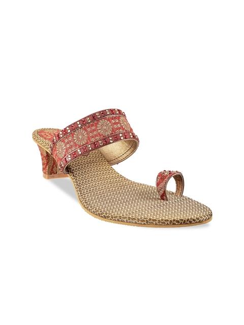 Mochi Women Maroon Heels