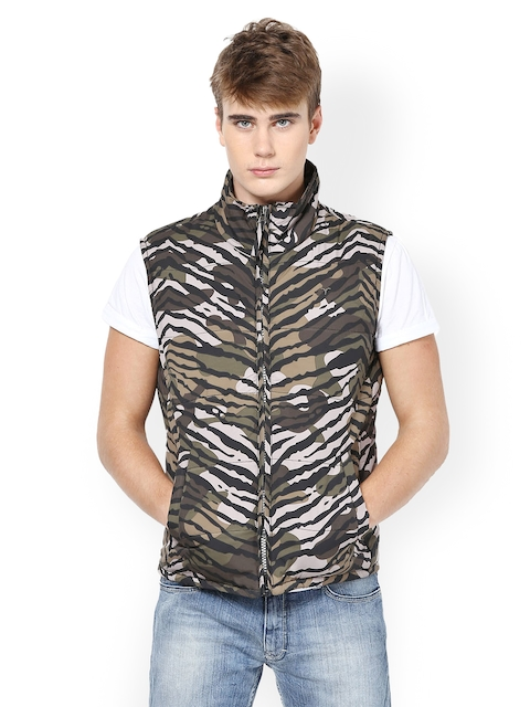 Monteil & Munero Men Grey Printed Jacket  available at myntra for Rs.1017