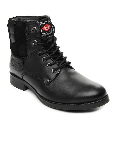 Lee Cooper Men Black Leather Boots