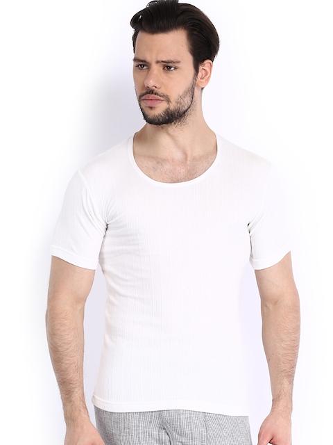 NEVA Men White Thermal T-shirt OMS2
