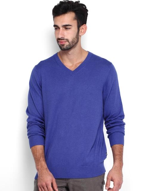 Nautica Men Blue Sweater