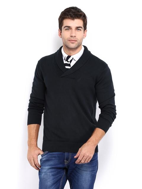 Nautica Men Navy Sweater
