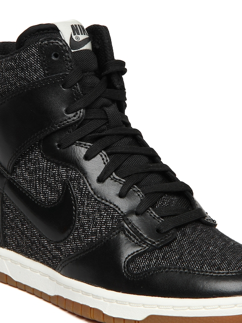 cheap for discount f60b5 d4871 ... myntra Buy Nike Black Dunk Sky Hi Essential NSW Casual Shoes - Casual  Shoes for Women ...