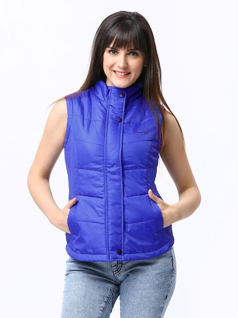 Numero Uno Women Blue Padded Sleeveless Jacket