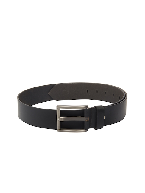 Pacific Gold Black Leather Belt