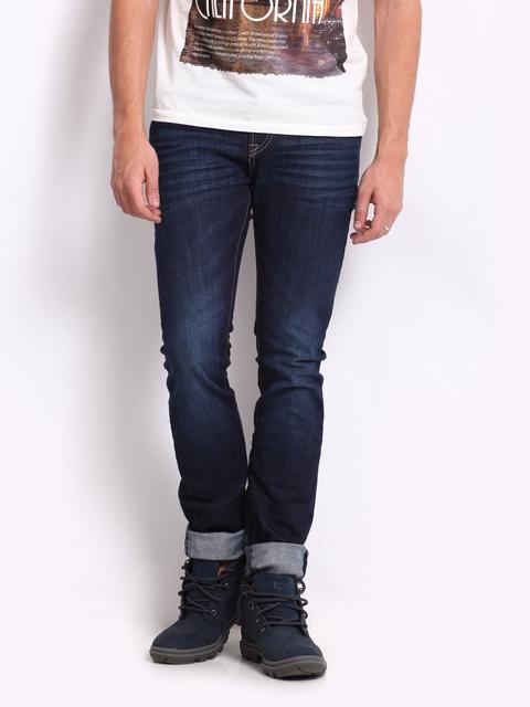 Pepe Jeans Men Blue Soho Super Slim Fit Jeans