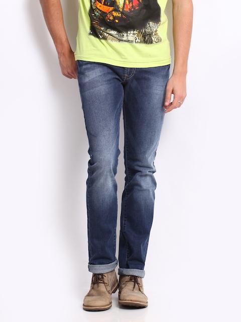 Pepe Jeans Men Blue Vapour Skinny Fit Jeans