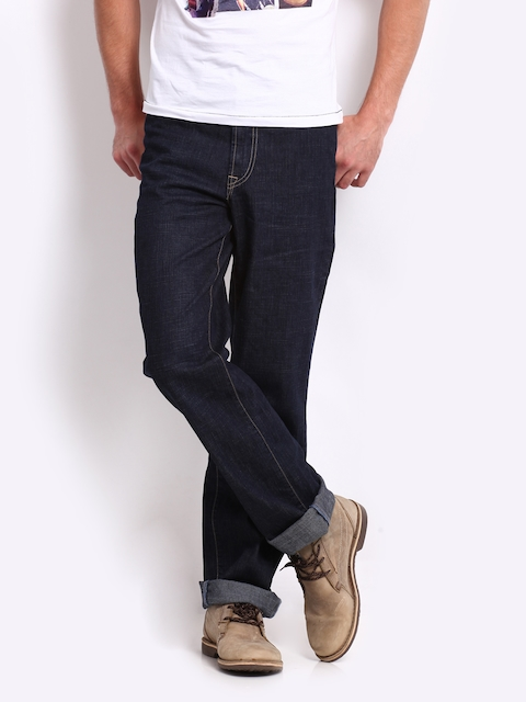 Pepe Jeans Men Navy Comfort Regular Fit Jeans