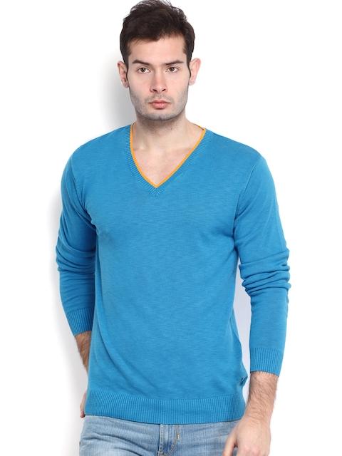Peter England Casuals Men Blue Sweater