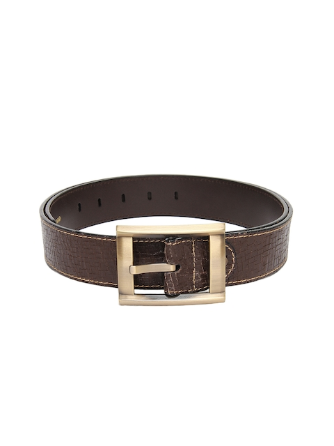 Peter England Men Brown Leather Belt
