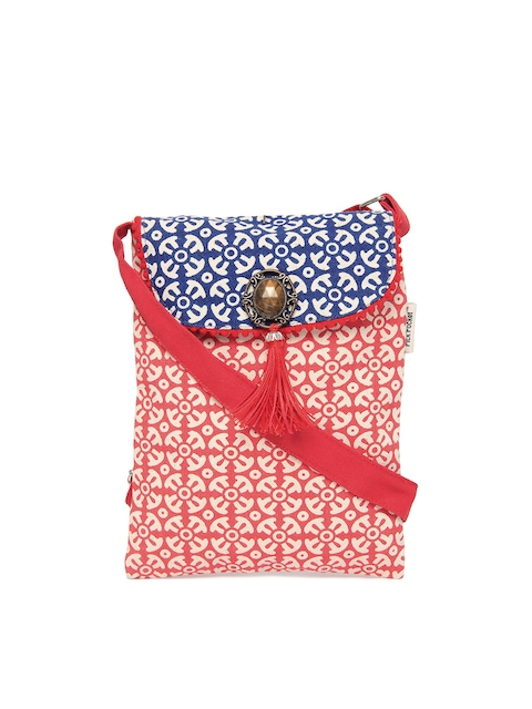 Pick Pocket Red & Blue Sling bag  available at myntra for Rs.296