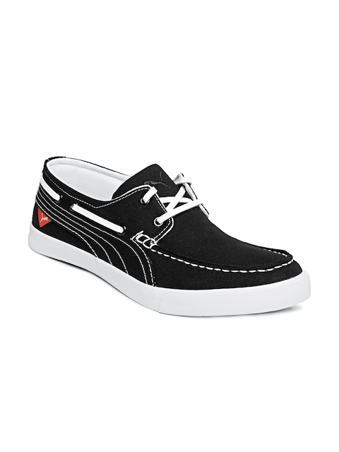 Puma Men Black Yacht Cvs Boat Shoes