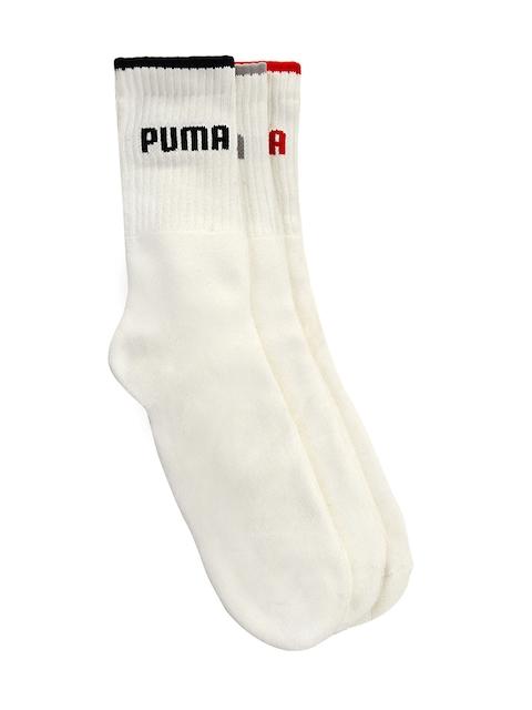 Puma Men White Pack of 3 Socks