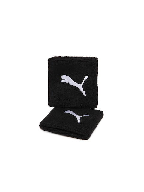 Puma Unisex Set of 2 Black Wristbands
