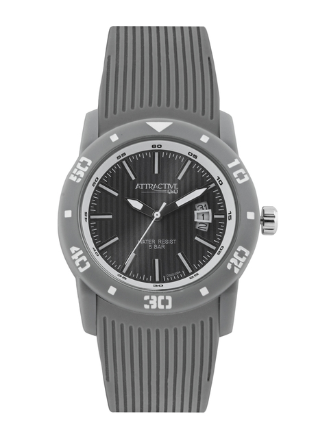 Q&Q Attractive Men Grey Dial Watch