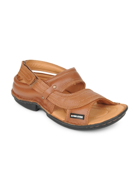 Red Chief Men Brown Leather Sandals