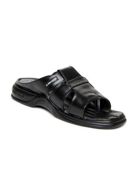 Red Chief Men Black Leather Sandals  available at myntra for Rs.1516