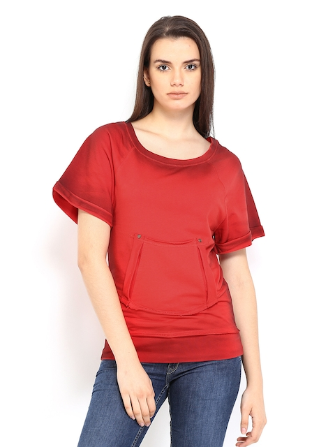 Roadster Women Red Sweatshirt