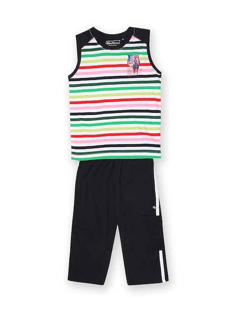 SDL by Sweet Dreams Boys Navy & White Striped Clothing Set