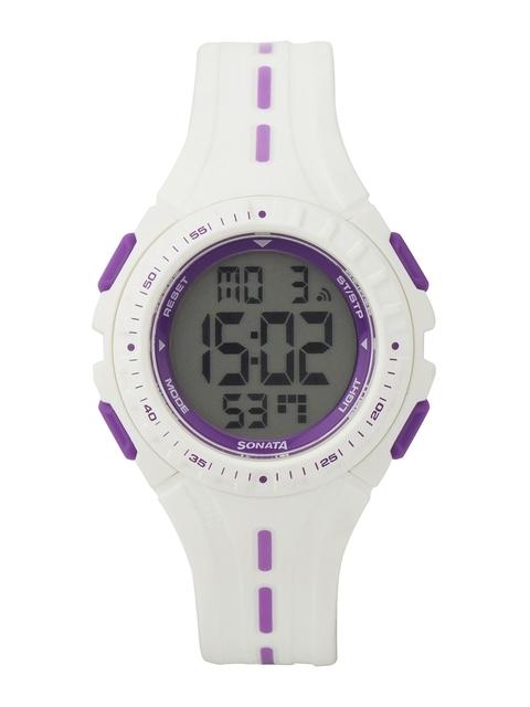 Sonata Women Ocean Series Grey Digital Watch ND8977PP01J