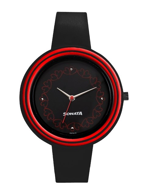 Sonata Women Black Dial Watch 8995PP03