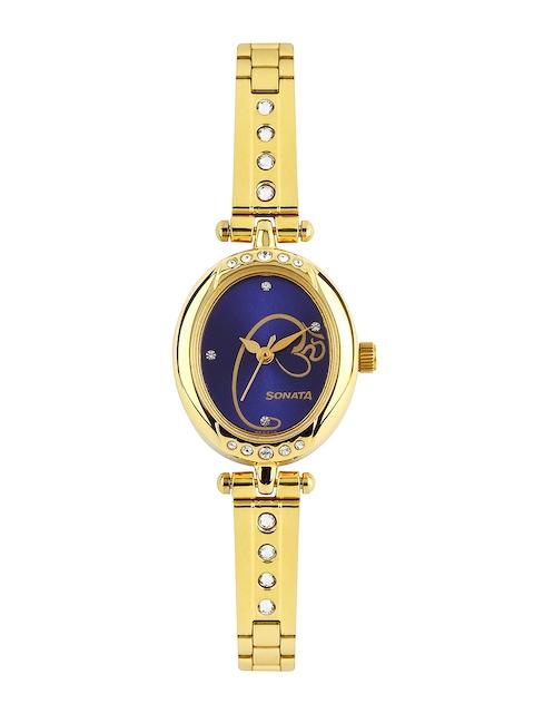Sonata Sona Sitara Women Blue Dial Watch 8118YM02