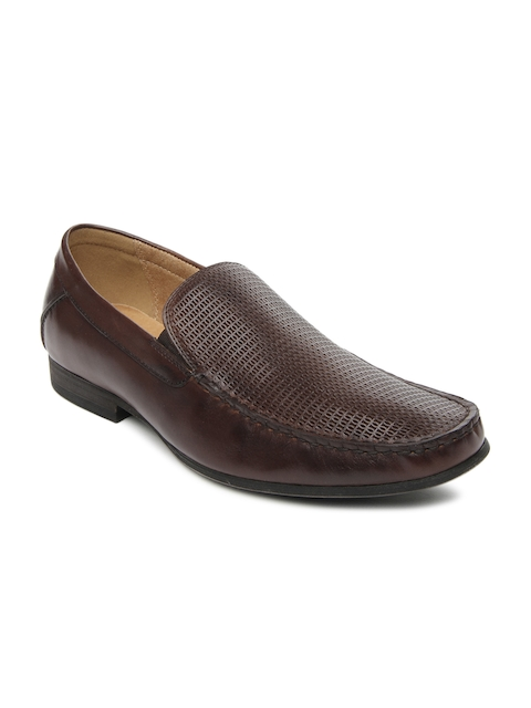 Steve Madden Men Brown Leather Semiformal Shoes