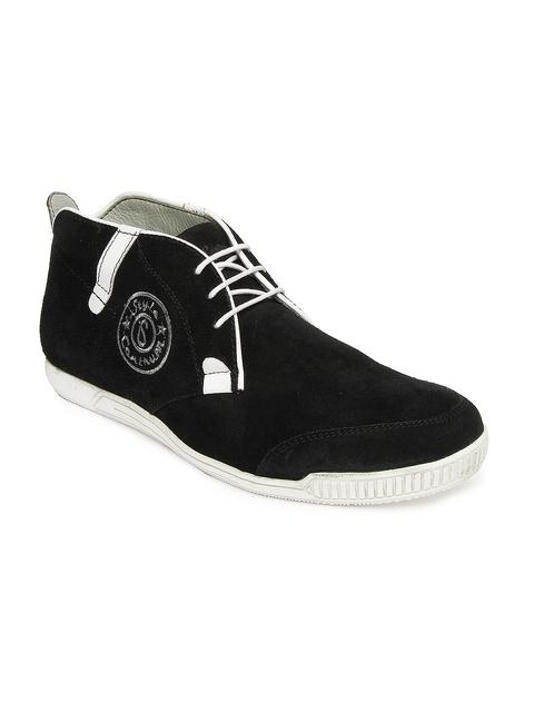 Style Centrum Men Black Suede Casual Shoes