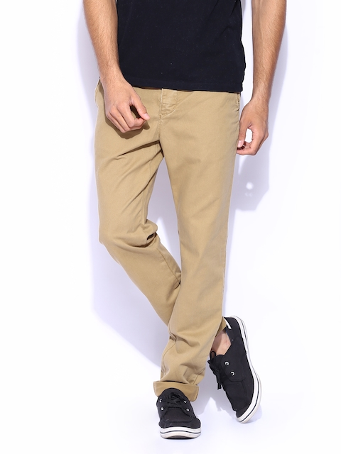 Superdry Men Brown Commodity Slim Chino Trousers