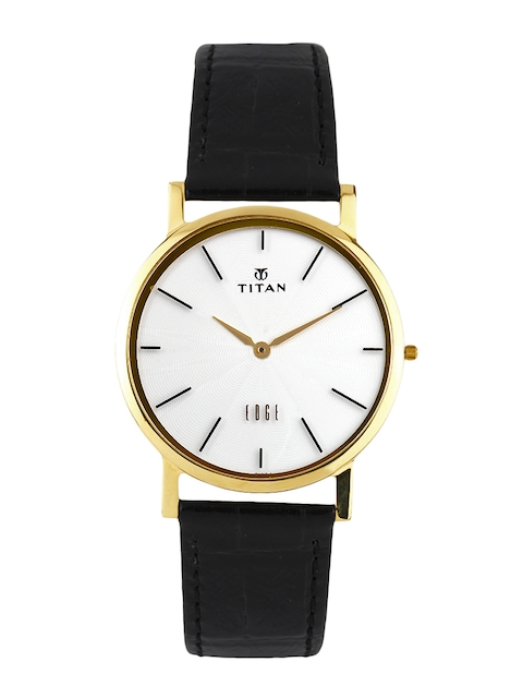Titan Edge Men Off-White Dial Watch