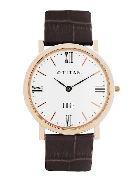 Titan Edge Men White Dial Watch ND679WL01