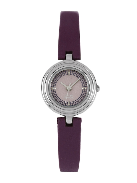 Titan Raga 2498SL02 Analog Purple Dial Women's Watch (2498SL02)