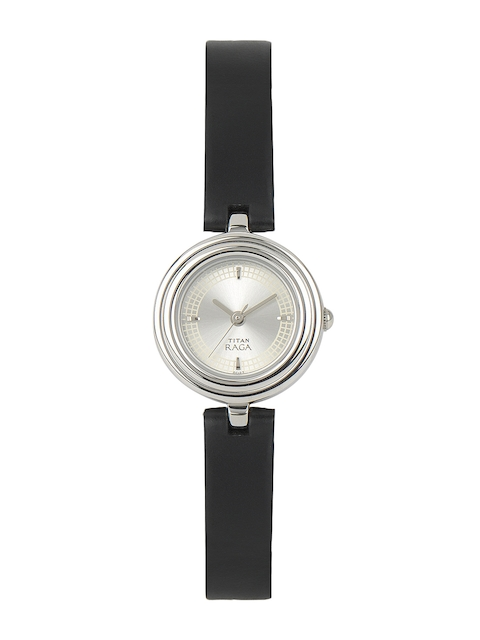 Titan Raga Women Silver-Toned Dial Watch 2498SL01