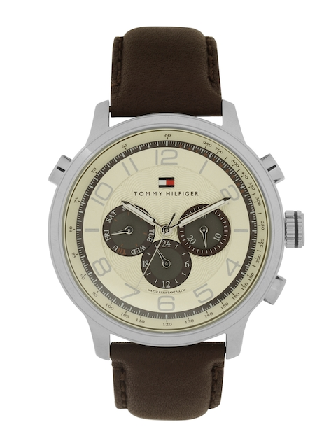 Tommy Hilfiger Men Cream-Coloured Dial Chronograph Watch TH1790767J