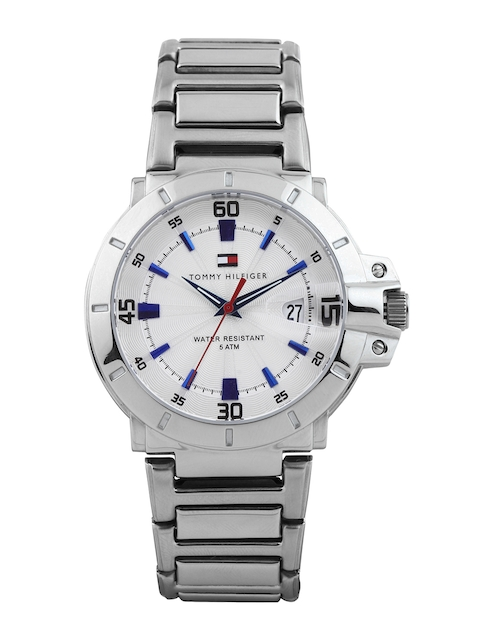 Tommy Hilfiger Men Silver-Toned Dial Watch NTH1790468J