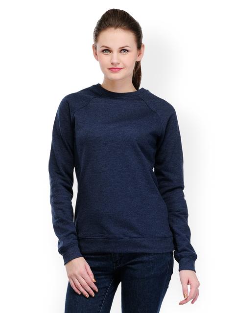 TshirtCompany Women Navy Melange Sweatshirt