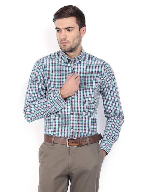 U.S. Polo Assn. Men Multicoloured Checked Tailored Fit Casual Shirt
