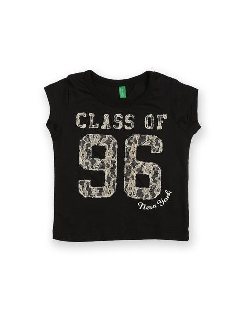 United Colors of Benetton Girls Black T-shirt