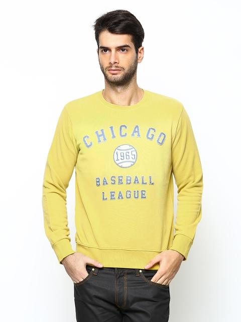 United Colors of Benetton Men Yellow Sweatshirt