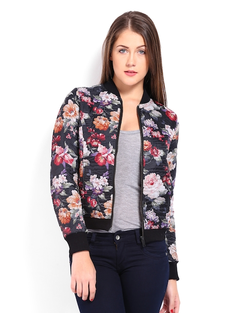 United Colors of Benetton Women Multicoloured Floral Printed Padded Jacket