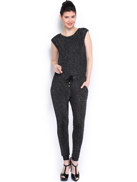 Vero Moda Women Black Shine Jumpsuit