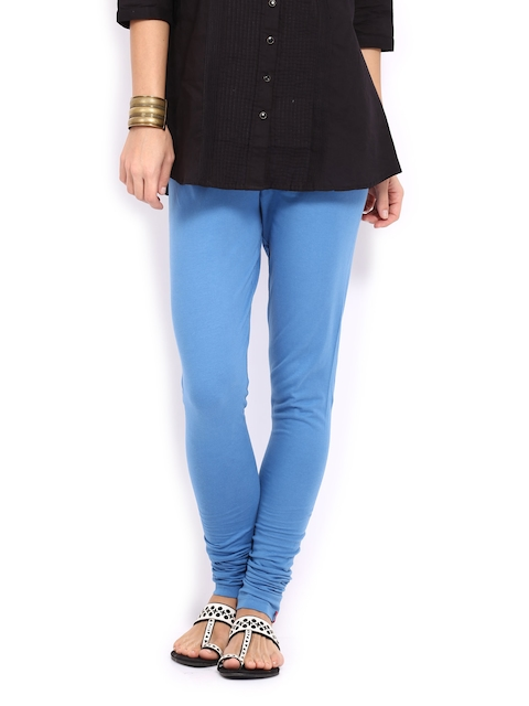 W Women Blue Churidar Leggings  available at myntra for Rs.329