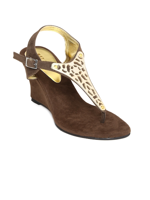 Wet Blue Women Brown Wedges