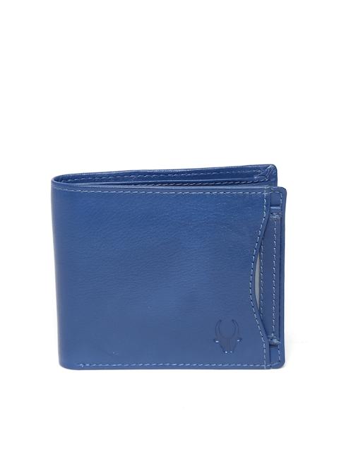 WildHorn Men Blue Leather Wallet